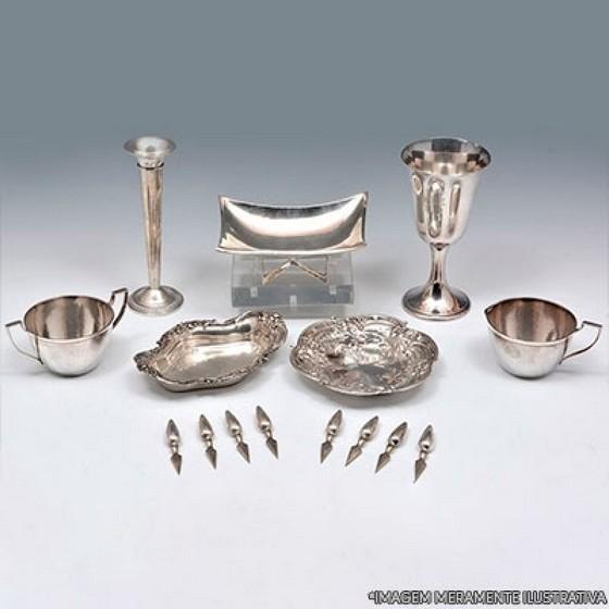 Banho de Prata em Objetos Melhor Preço Uberlândia - Banho com Prata